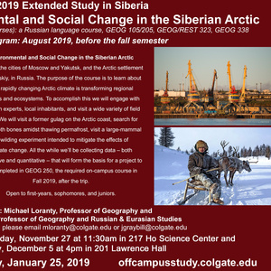 Fall 2019 Siberia Extended Study Information Session