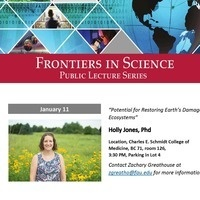 Frontiers in Science Public Lecture Series with Dr. Holly Jones