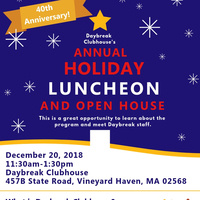 Daybreak Clubhouse Holiday Luncheon Open House