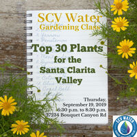 SCV Water Gardening Class: Top 30 Plants for the SCV