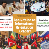 Apply to Be an International Orientation Leader |International Student and Scholars