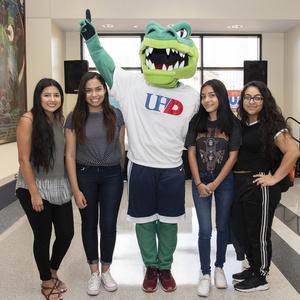 Students with Ed U Gator
