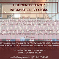 Community Leader Information Sessions