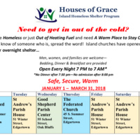 Houses of Grace Island Winter Shelter