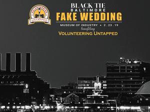 Black Tie Baltimore Fake Wedding Benefiting Volunteering Untapped