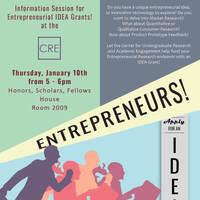 Entrepreneurship Idea Grant Information Session