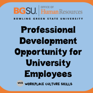 OHR Training Opportunity: Key Ingredients in the Workplace