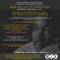 MLK Day of Celebration: Negro Spirituals And Its Role In Civil Rights. | MLK Committee