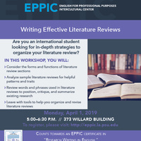 Writing Effective Literature Reviews