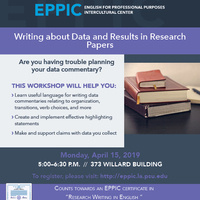 Writing about Data and Results in Research Papers