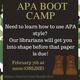 APA Boot Camp - Webinar