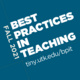 The Best Practices in Teaching Program