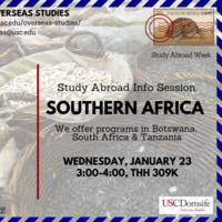 Study Abroad Info Session: Southern Africa