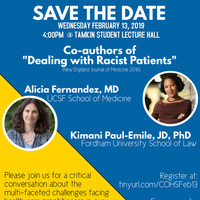 """Dealing with Racist Patients"" Keynote with Kimani Paul-Emile and Alicia Fernandez"