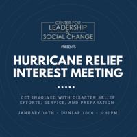 Hurricane Relief Interest Meeting