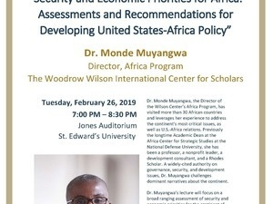 """""""Security and Economic Priorities for Africa: Assessments and Recommendations for Developing United States-Africa Policy"""""""