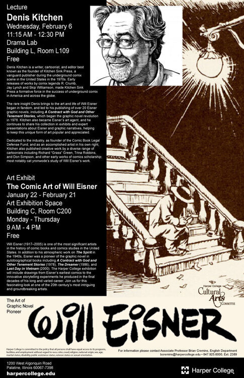 Denis Kitchen Lecture On The Art Of Will Eisner Harper College