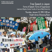 Free Speech in Japan: Forms of Speech, Forms of Suppression