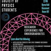 SPS Research Experience for Undergraduates