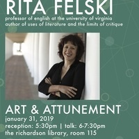 """Art and Attunement,"" Lecture by Rita Felski"