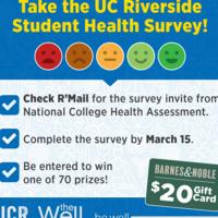 UCR Student Health Survey ($20 Gift Card Raffles)