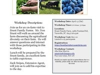 Diversifying the Farm Workshop: Brant Family Farms