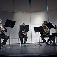 URI Brass Quintet, Cathryn Cummings, coordinator