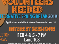 Alternative Spring Break Houson, TX- Interest Session