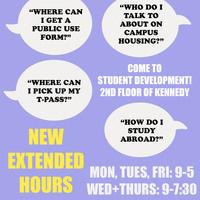 Student Development Late Night Hours