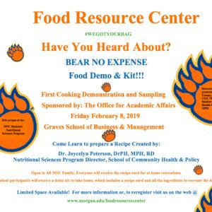 BEAR NO EXPENSE... Food Demo & Kit!!