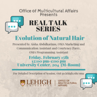 Real Talk Series: Evolution of Natural Hair | Multicultural Affairs