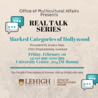 Real Talk Series: Marked Categories of Hollywood | Multicultural Affairs