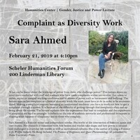 Gender, Justice and Power | Sara Ahmed Lecture | Humanities Center