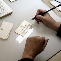 Calligraphy at the White House