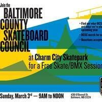 BCSC FREE Skate/BMX/Scooter Session at Charm City Skatepark