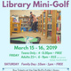 Library Mini Golf for Families