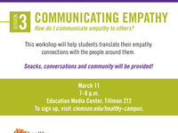 Empathy Workshop Series Session 3: Communicating Empathy