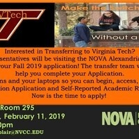 Virginia Tech Application Completion Workshop
