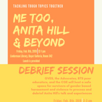 Me Too, Anita Hill & Beyond   Council for Equity and Community