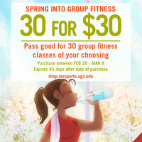 Spring Into Group Fitness: 30 classes for $30