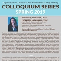 Seminar Series with Dr. Kathleen Stebe! | Chemical and Biomolecular Engineering
