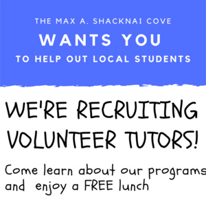 COVE Volunteer Recruitment for Local Tutors