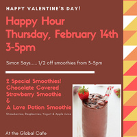 Happy Hour Thurs, Feb 14 3-5pm | Dining Services