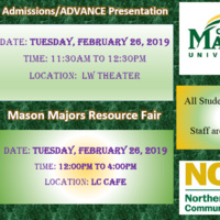 GMU Admissions/ADVANCE Presentation