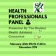 Health Professionals Panel