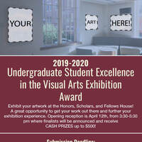Deadline to apply: Student Excellence in the Visual Arts Exhibition Award