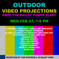 Outdoor Video Projections Onto Bailey Power Plant