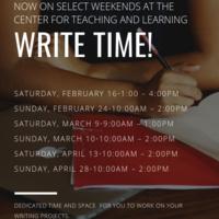 Write Time!