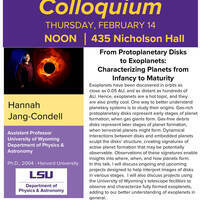 Colloquium - From Protoplanetary Disks to Exoplanets: Characterizing Planets from Infancy to Maturity