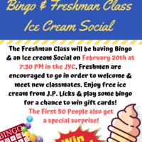 Class of 2022 Ice Cream Social & Bingo